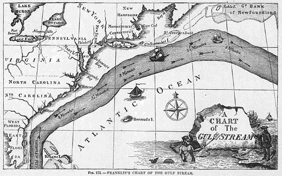 ¿quién Fue El Primero Que Cartografió La Corriente Del Golfo?
