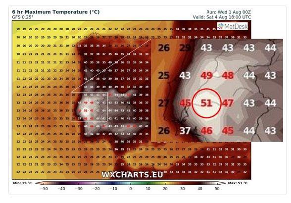 ¿se Pueden Alcanzar Los 51 ºc En La Península En Esta Ola De Calor?