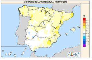 Resumen climático del verano 2018, según AEMET
