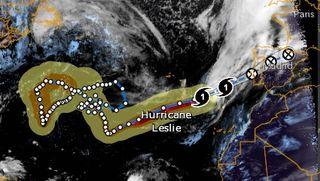 ¿Es el huracán Leslie el de más larga duración en el Atlántico Norte?