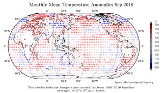 Septiembre de 2018: el 5º más cálido en la serie, según JMA