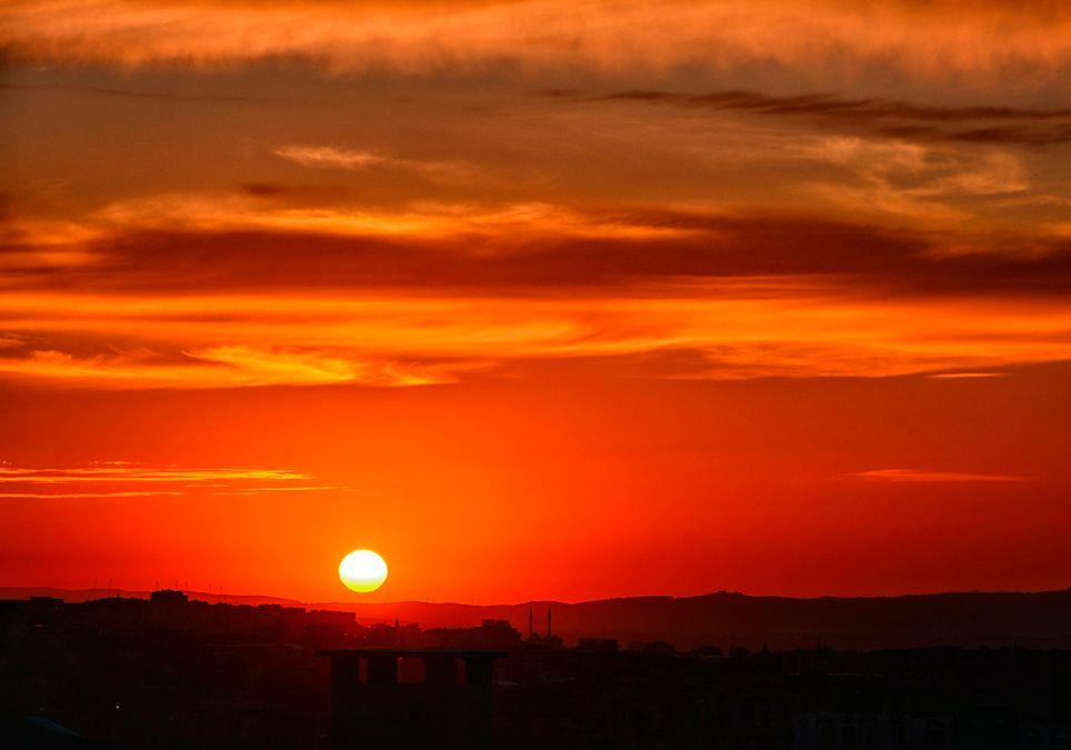 Kälteste Tageszeit: Sonnenaufgang