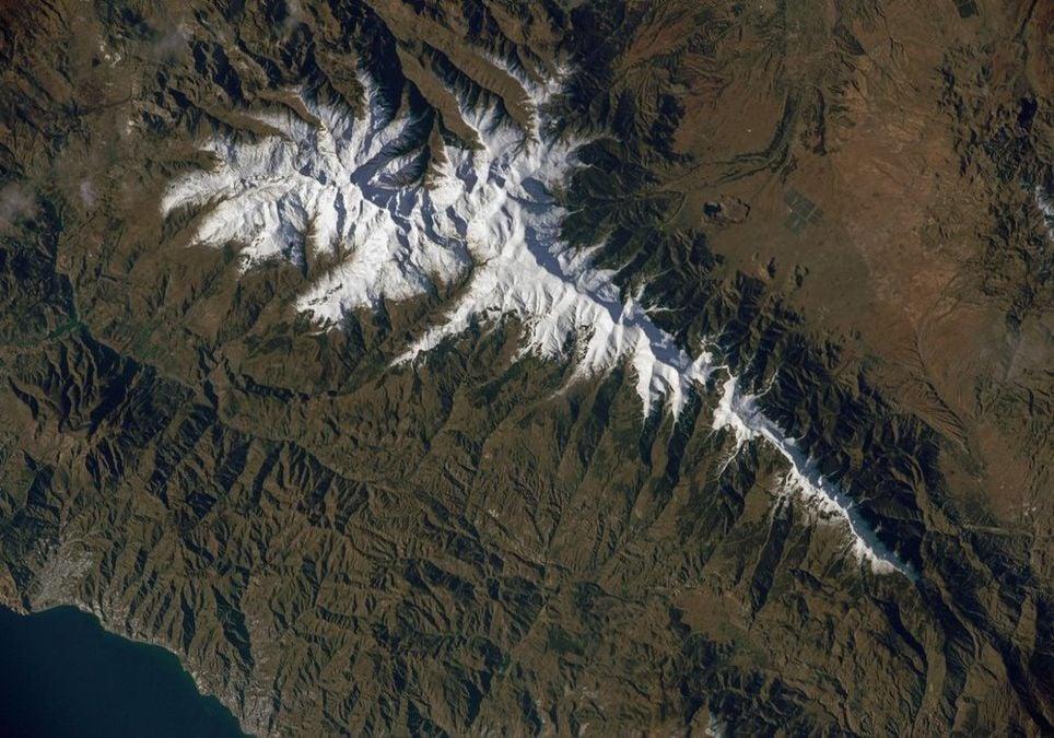 Sierra Nevada es la estación situada más al sur del continente. Imagen desde la ISS. Fuente: NASA