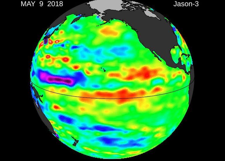 Temperaturas superficiales del Pacífico