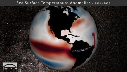 100 años de anomalías de la temperatura del agua del mar