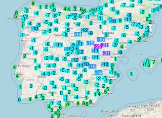 12 de enero de 2021: la noche más fría en décadas sobre la Península