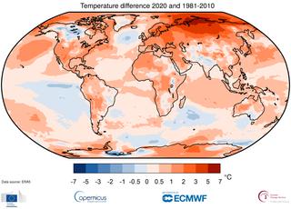 2020 año de récord de calor a nivel global
