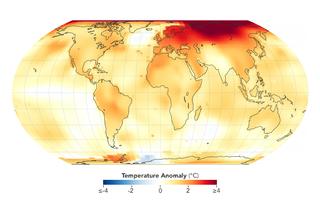 2020 igualó a 2016 como el año más caluroso registrado
