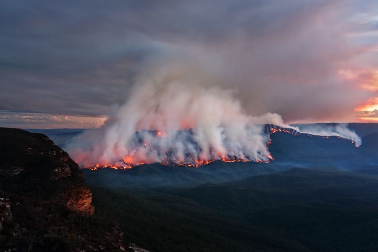 Firefighters in New South Wales, Australia, are battling 100 bushfires