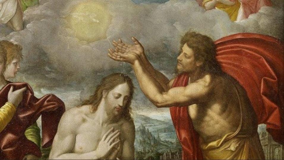 San Juan Bautista bautizando a Jesús