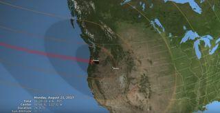 Eclipse veraniego a lo largo de Norteamérica