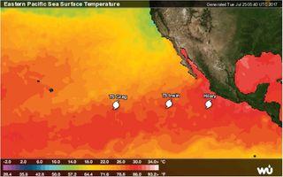 Doble danza de ciclones tropicales en el Pacífico: efecto Fujiwhara