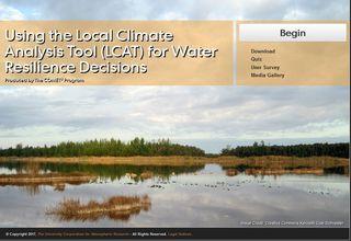 Uso de la herramienta de análisis de climas locales para aplicaciones de recursos hídricos