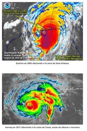 Harvey vs. Katrina: diferencias en sus efectos