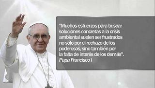 El papa Francisco, Harvey, Irma y el cambio climático