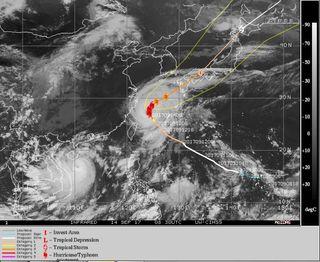 """El tifón Talim: el """"Irma"""" japonés"""