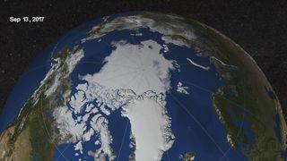 La extensión de hielo del mar Ártico de fin de verano es la octava más baja en el registro