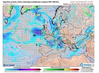 Los restos de los huracanes Maria y Lee podrían alcanzar las Islas Británicas y Galicia