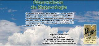 Curso de Oposiciones a Observador de Meteorología del Estado