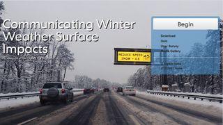 Comunicando los impactos del tiempo invernal en superficie