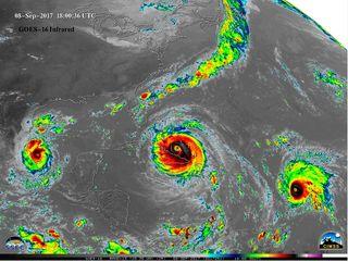Activa estación de huracanes en el Atlántico en agosto y septiembre de 2017
