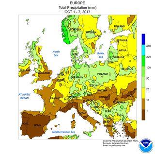Desolador: pocas lluvias en los primeros días de octubre