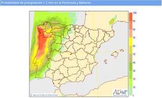 Un rayo de esperanza: probabilidad de precipitaciones para la próxima semana