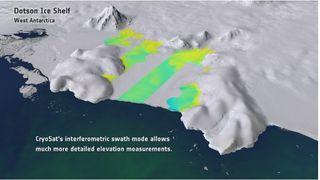 Detectados cañones bajo el hielo antártico