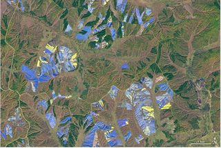 Colores desde el espacio: granjas de ginseng en el norte de China