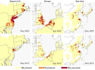 Los satélites siguen la contaminación del ozono controlando sus ingredientes clave