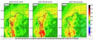 Climatología del ozono en Galicia