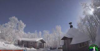 Un meteorito convierte la noche en día en el Ártico