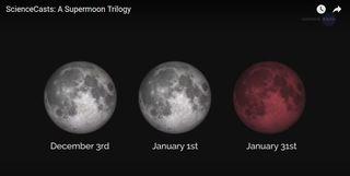 Tres superlunas cercanas