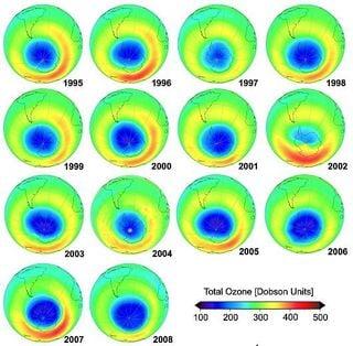 Fluctuaciones en el ozono estratosférico