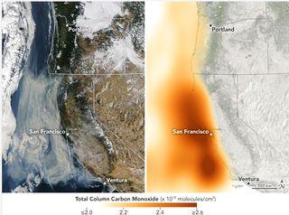 Emisiones de los incendios forestales de California