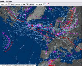 Posible formación de una DANA: lluvia y nieve para el Mediterráneo Occidental