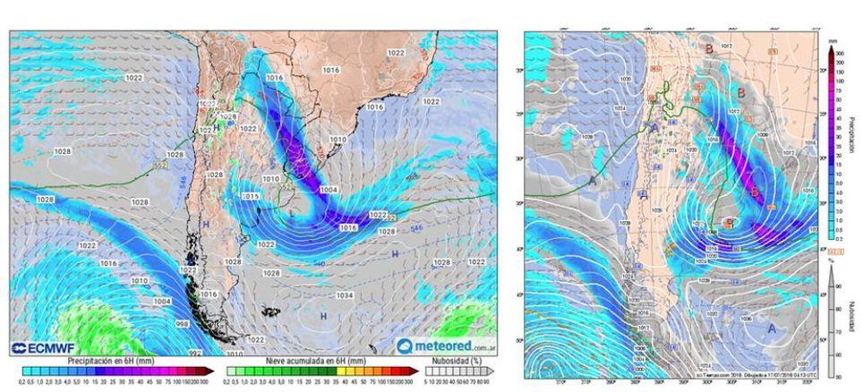 Ciclón Ciclógenesis Temporal Costa Atlantica Lluvias Vientos