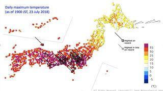 41.1 ° C, record absoluto de temperatura en Japón por ola de calor mortífera