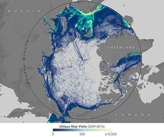 La navegación marítima responde a la disminución del hielo marino ártico
