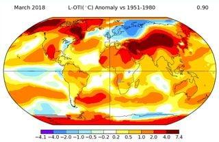 Marzo de 2018: el quinto marzo más cálido en la Tierra