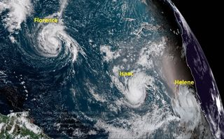 Florence, Helene, Isaac e Invest 94L