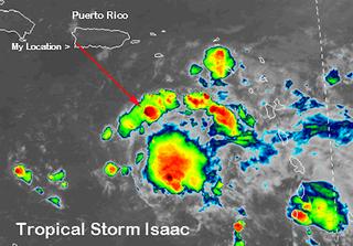 Chorros gigantescos de las tormentas en el Caribe
