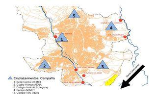 Primera campaña de medida de concentraciones de dióxido de carbono y metano en Madrid