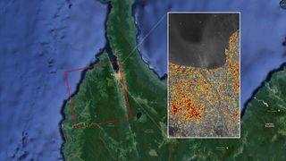 Mapa de los daños del terremoto y tsunami de Indonesia