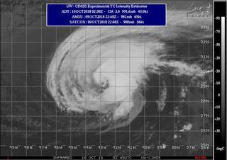 Trayectoria prevista del huracán Leslie: Desde Canarias a Irlanda