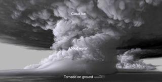 Recreación de un tornado EF-5 en 3D