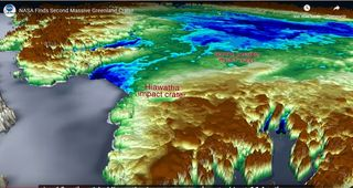 Descubren un segundo cráter de impacto bajo el hielo de Groenlandia