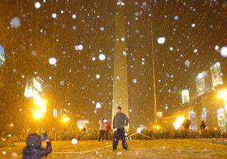 9 de julio de 2007: la última gran nevada en Buenos Aires