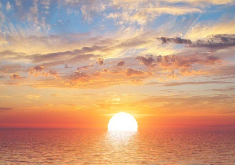 Pôr do sol no oceano
