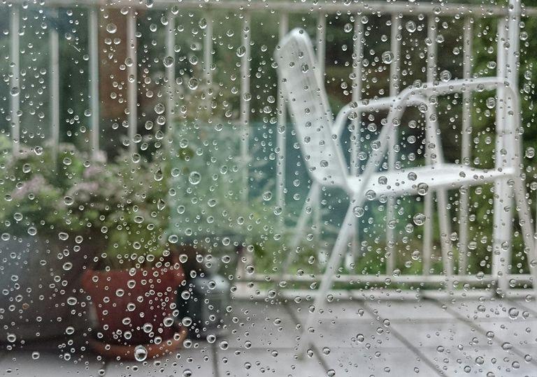 Lluvia balcón